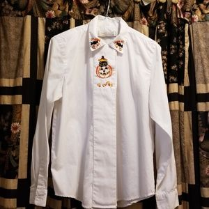 Embroidered Halloween Blouse